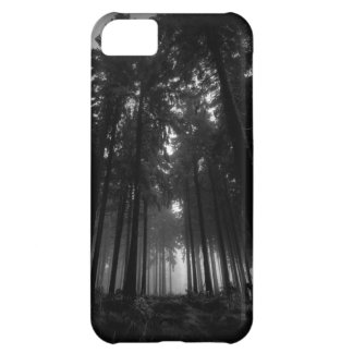 Cool Black and White Forest Fog Silence Gifts iPhone 5C Case