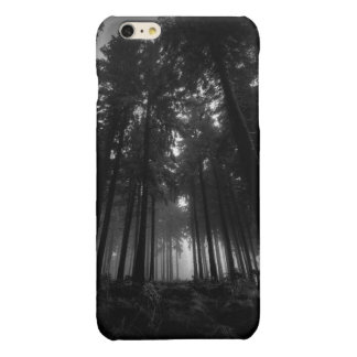 Cool Black and White Forest Fog Silence Gifts Glossy iPhone 6 Plus Case