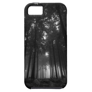 Cool Black and White Forest Fog Silence Gifts Tough iPhone 5 Case