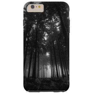 Cool Black and White Forest Fog Silence Gifts Tough iPhone 6 Plus Case