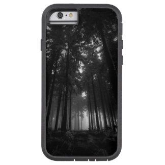 Cool Black and White Forest Fog Silence Gifts Tough Xtreme iPhone 6 Case