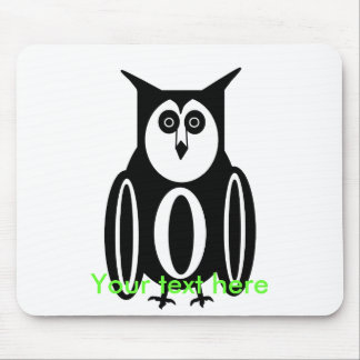 Cool black and white owl mousepads