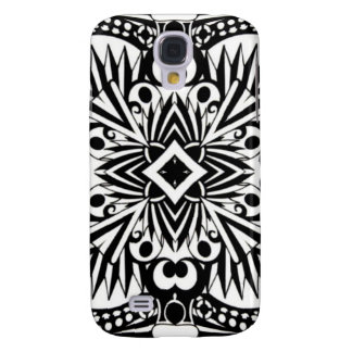 Cool Black and White Pattern Galaxy S4 Case