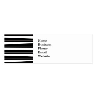 Cool Black and White Pattern Uneven Stripes Business Cards