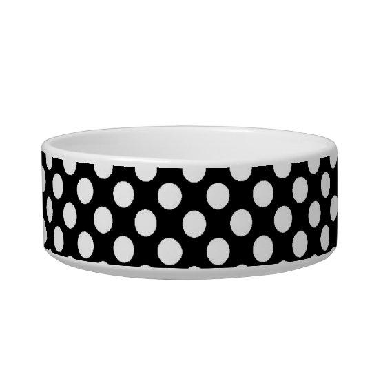 cool black and white polka dots bowl
