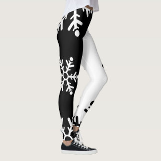 Cool black and white snowflake leggings
