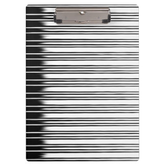 Cool Black and White Striped Pattern Clipboard