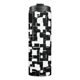 Cool Black and White Trendy Pattern Thermal Tumbler