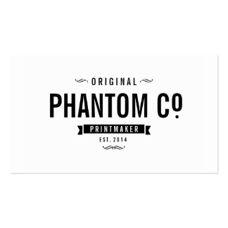Cool Black and White Vintage Classic Business Card