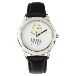 Cool Black Blonde For Life Simple Adorable Stylish Watch