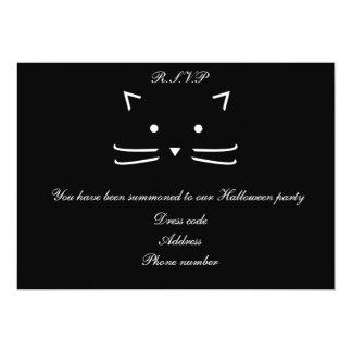 Cool Black Cat Halloween Customisable Card