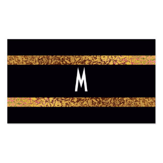 Cool Black/Gold Modern Retro Elegant Save the Date Pack Of Standard Business Cards