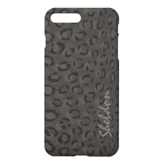 Cool black grey cheetah monogram iPhone 8 plus/7 plus case