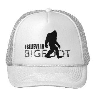 Cool Black I Believe in Bigfoot Mesh Hat