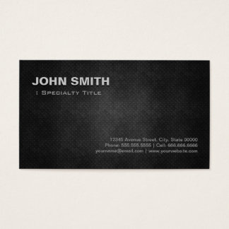 Cool Black Metal Steel Personal Individual Business Card