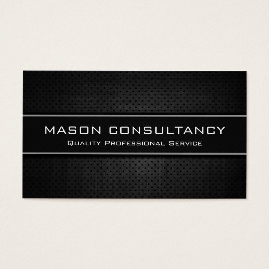 Cool Black, Modern Professional Business Cards