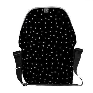 Cool Black Night Stars Print Messenger Bags