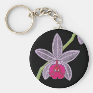 Cool Black Orchid Flower  Custom Key Chain