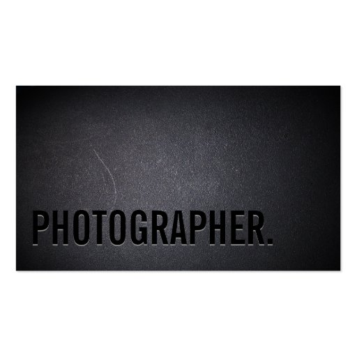 Cool Black Out Photographer Dark Business Card