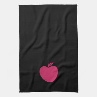 Cool Black Pink Apple Towel