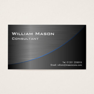 Cool Black Stainless Steel Curved, Business Card