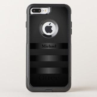 Cool Black Stripes Monogram OtterBox Commuter iPhone 8 Plus/7 Plus Case