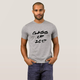 Cool Black Text | Class of 2017 Graduate T-Shirt