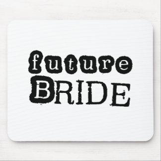 Cool Black Text Future Bride Mouse Pad