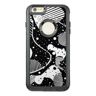 Cool Black & White Abstract Shapes Design OtterBox iPhone 6/6s Plus Case