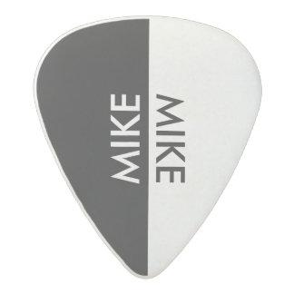 cool black & white acetal guitar pick