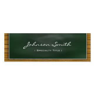 Cool Blackboard Chalkboard - School Teacher Business Card Templates