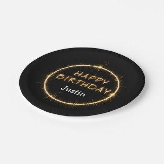 Cool Bling Happy Birthday Plates