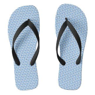 Cool Blue Abstract Art Flip Flops
