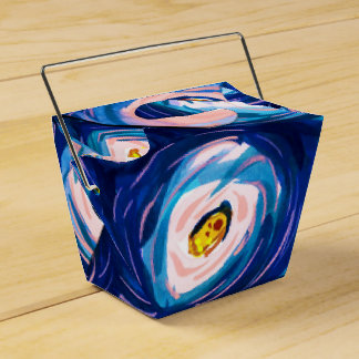 Cool Blue Abstract Watercolour Favor Gift Boxes