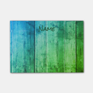 Cool Blue and Green Post-it® Notes