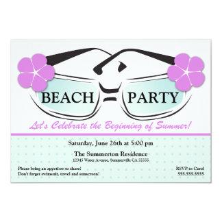 Cool Blue and Purple Summer Sunglasses Invitation