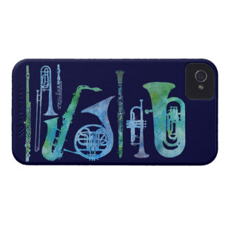 Cool Blue Band Case-Mate iPhone 4 Case
