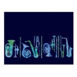 Cool Blue Band Postcard