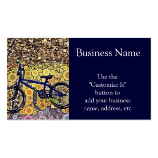 Cool Blue Bike Concentric Circle Mosaic Pattern Business Cards