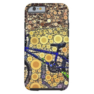 Cool Blue Bike Concentric Circle Mosaic Pattern Tough iPhone 6 Case