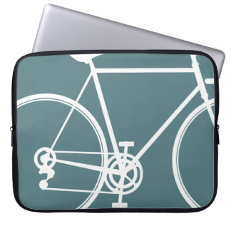 Cool blue bike design Laptop Sleeve