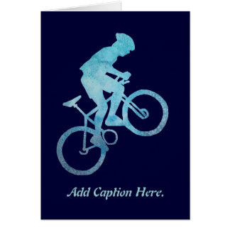 Cool Blue Biker Card