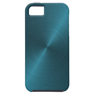 Cool Blue Brushed Metal iPhone 5 Case