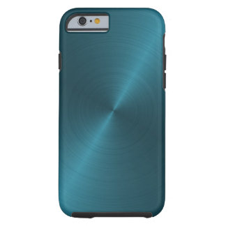 Cool Blue Brushed Metal iPhone 6 Case