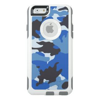Cool Blue Camo Camouflage OtterBox iPhone 6 Case