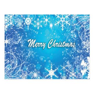 Cool Blue Christmas Postcard
