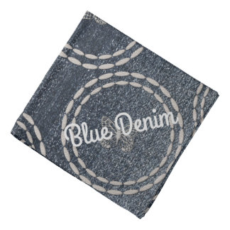 Cool Blue Denim Butterflies Personalize This Bandana