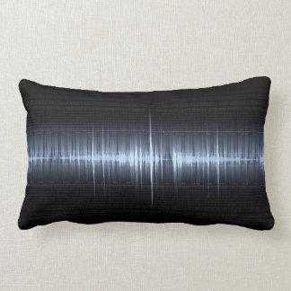 Cool Blue Electrocardiogram Cardiologist Men's Lumbar Pillow