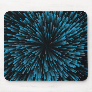 Cool blue Explosion Design Mouse Pad
