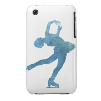 Cool Blue Figure Skater Case-Mate iPhone 3 Cases